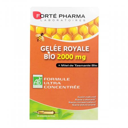 Gelée Royale et Miel Bio 2000mg Forté Pharma 20 ampoules