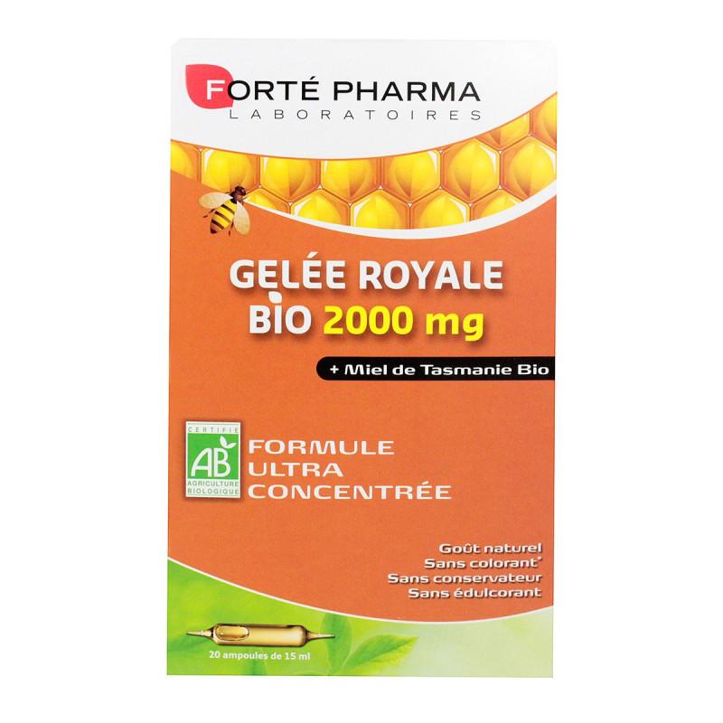 Forté Pharma Gelée Royale et Miel Bio 2000mg 20 ampoules
