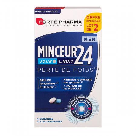 Minceur 24 Jour Nuit Men Forté Pharma 2x28 comprimés
