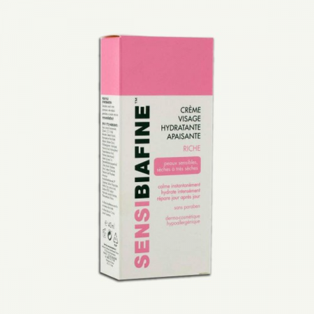 Crème Visage Apaisante Hydratante Riche Sensibiafine 50ml + Eau Micellaire