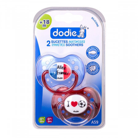 Dodie Sucettes Anatomiques Silicone Foot +18 mois X2
