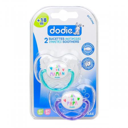 Dodie Sucettes Anatomiques Silicone Fan de +18 mois X2