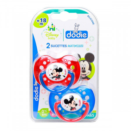 Dodie Sucettes Anatomiques Silicone Disney Mickey +18 mois X2
