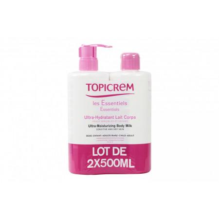Topicrem Lait Ultra-hydratant Corps 2x500ml