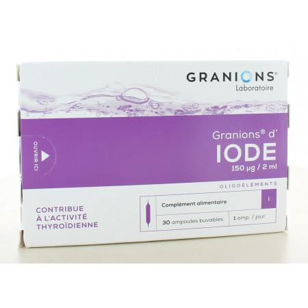Granions d'Iode 150µg/2ml 30 ampoules