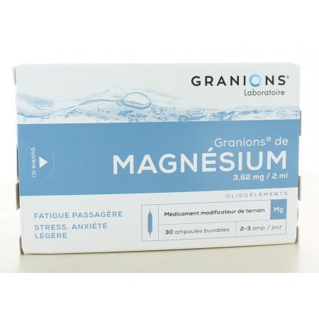 Granions de Magnésium 3,82 mg/2 ml 30 ampoules