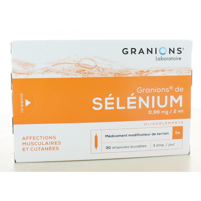 Granions de Sélénium 0,96 mg/2 ml 30 ampoules