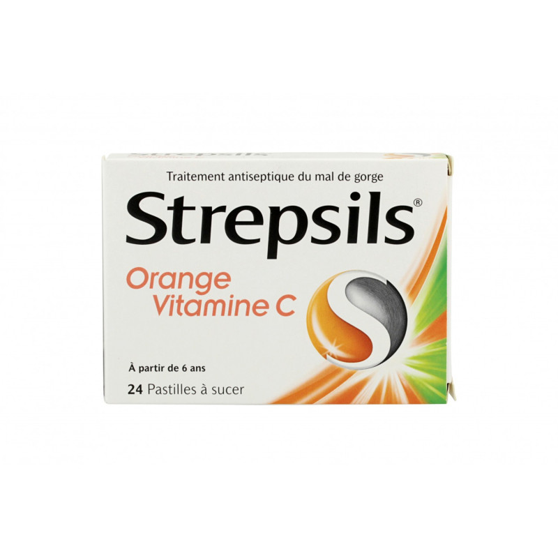 Strepsils Orange Vitamine C 24 pastilles