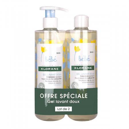 Klorane Bébé Gel Douceur Moussant 2X500ml