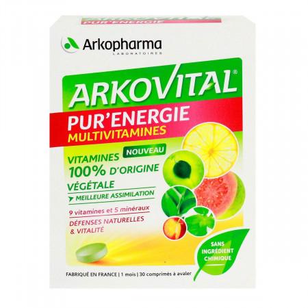 Arkopharma Arkovital Pur'énergie Multivitamines 30 comprimés