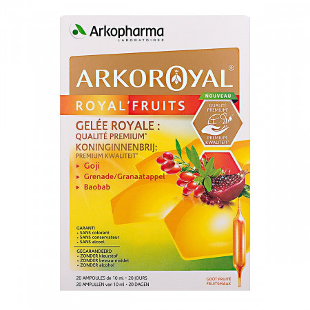 Arkopharma Arkoroyal Royal'fruits 20 ampoules