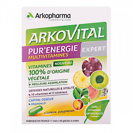Arkopharma Arkovital Pur'énergie Expert 60 gélules
