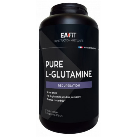 EaFit Pure L-Glutamine Saveur Orange 243g