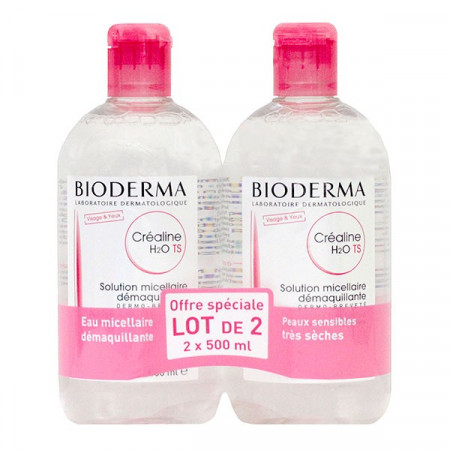 Bioderma Créaline-TS H2O Solution Micellaire Démaquillante 2X500ml
