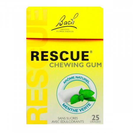 Bach Rescue Chewing-gums Menthe Verte X25
