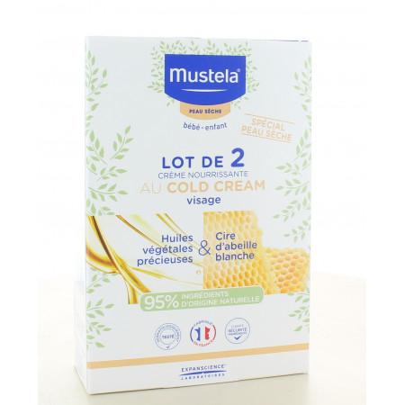 Mustela Crème Nourrissante Cold Cream Visage 2x40ml