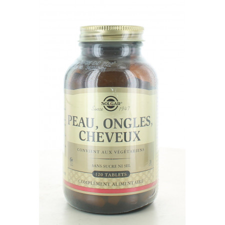 Solgar Peau Ongles Cheveux 120 tablets