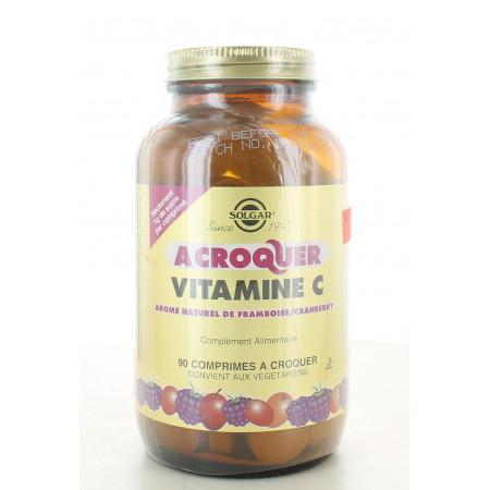 Solgar Vitamine C à Croquer Framboise/Cranberry 90 comprimés