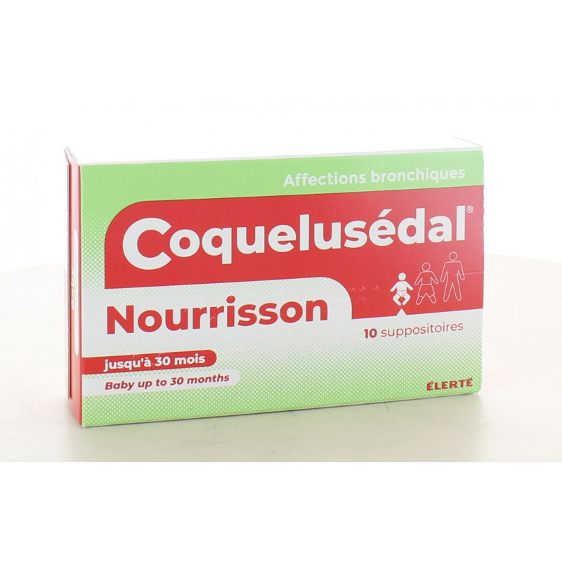 Coquelusédal Nourrissons 10 suppositoires