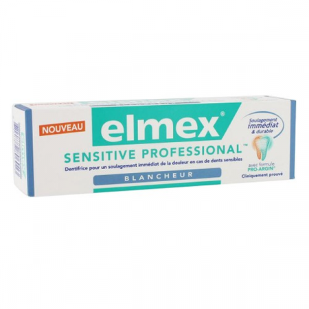 ELMEX DENTIFRICE SENSITIVE PROFESSIONNEL BLANCHEUR 75ML
