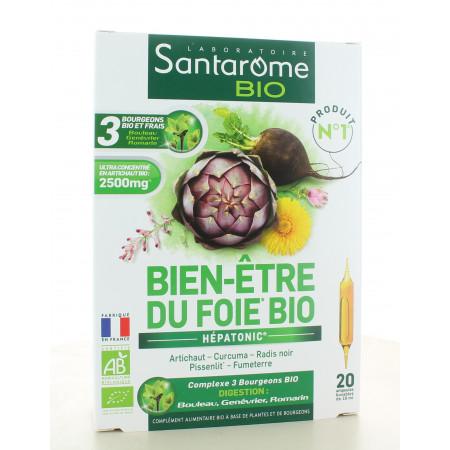 Santarome Bio Bien-être du Foie Bio 20 ampoules