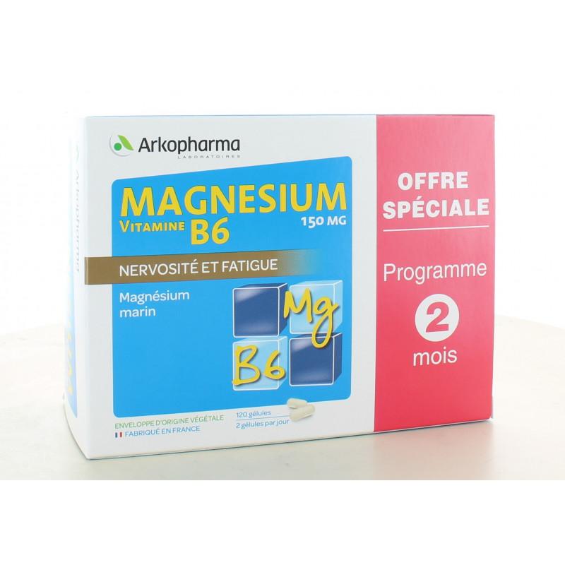 Arkopharma Magnesium Vitamine B6 X120 gélules