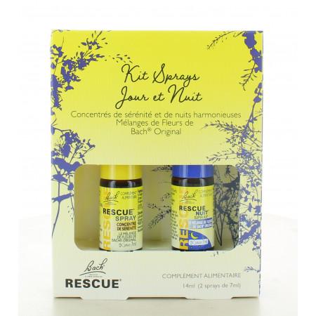 Bach Rescue Kit Sprays Jour et Nuit 2X7ml