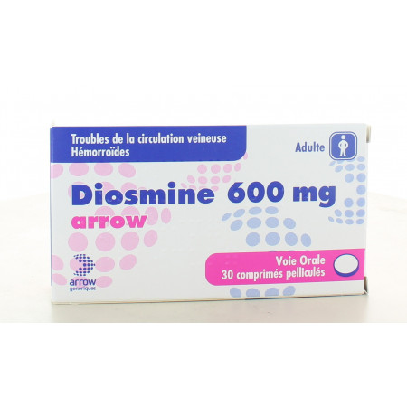 Diosmine 600 mg Arrow 30 comprimés