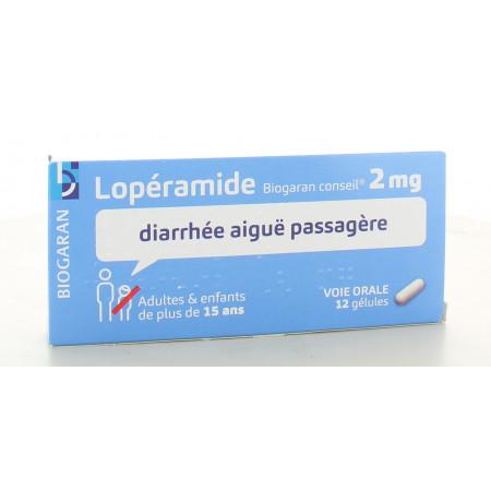 Lopéramide Biogaran 2 mg 12 gélules