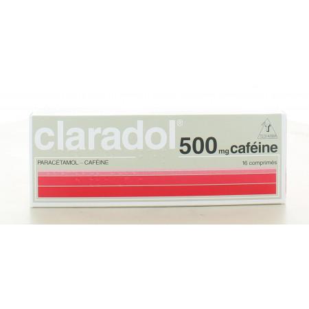 Claradol 500 mg Caféine 16 comprimés