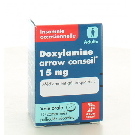 Doxylamine 15 mg Arrow 10 comprimés