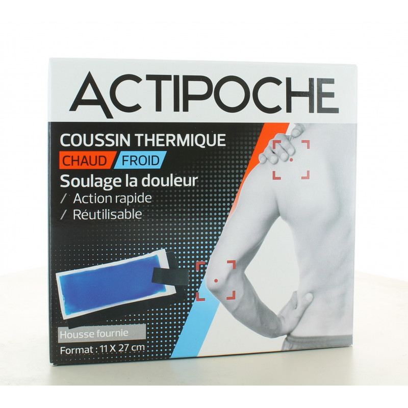 ActiPoche Coussin Thermique Chaud/Froid 11X27cm