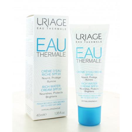 Uriage Eau Thermale Crème d'Eau Riche SPF20 40ml