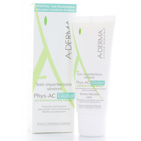 ADerma PhysAc Global Soin Imperfections Sévères 40ml