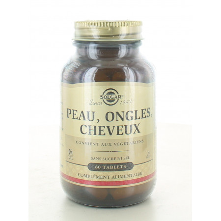Solgar Peau Ongles Cheveux 60 tablets