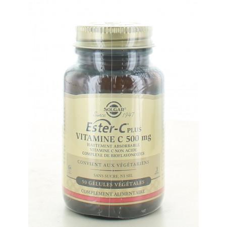 Solgar Ester-C Plus Vitamine C 500mg 50 gélules végétales