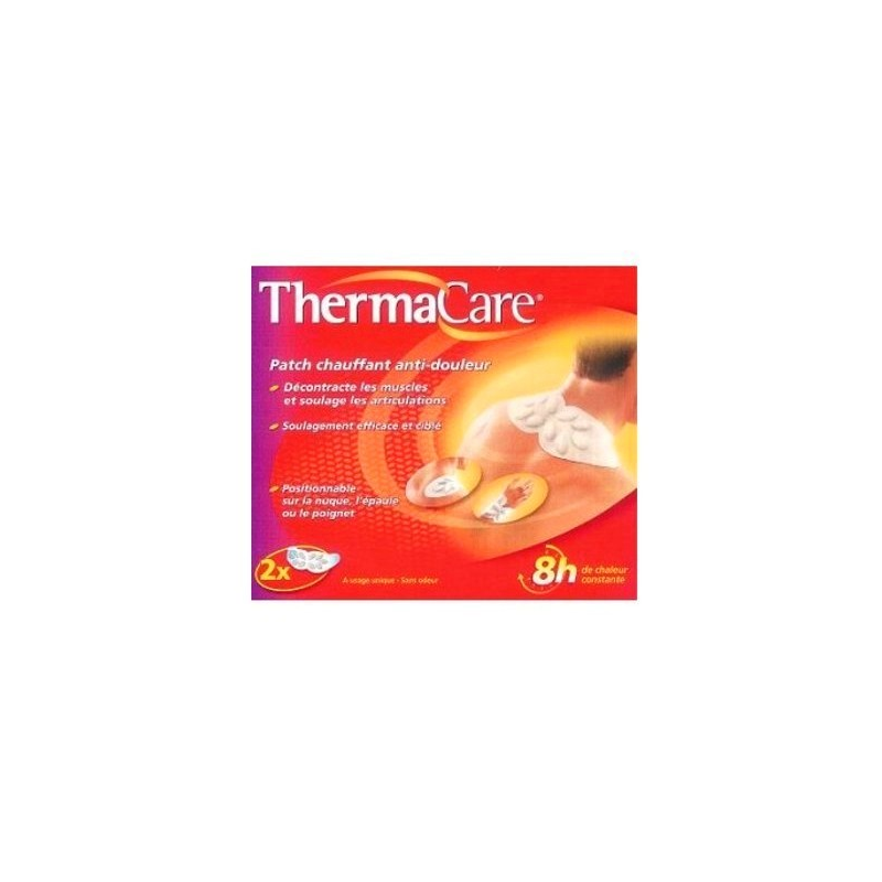 Patch auto-chauffant anti-douleur 16H Thermacare Cou/Epaule x2