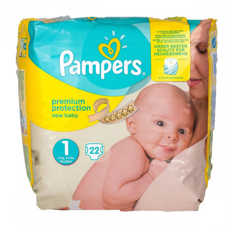 Pampers New Baby Taille 1 (2-5kg) X 22 couches