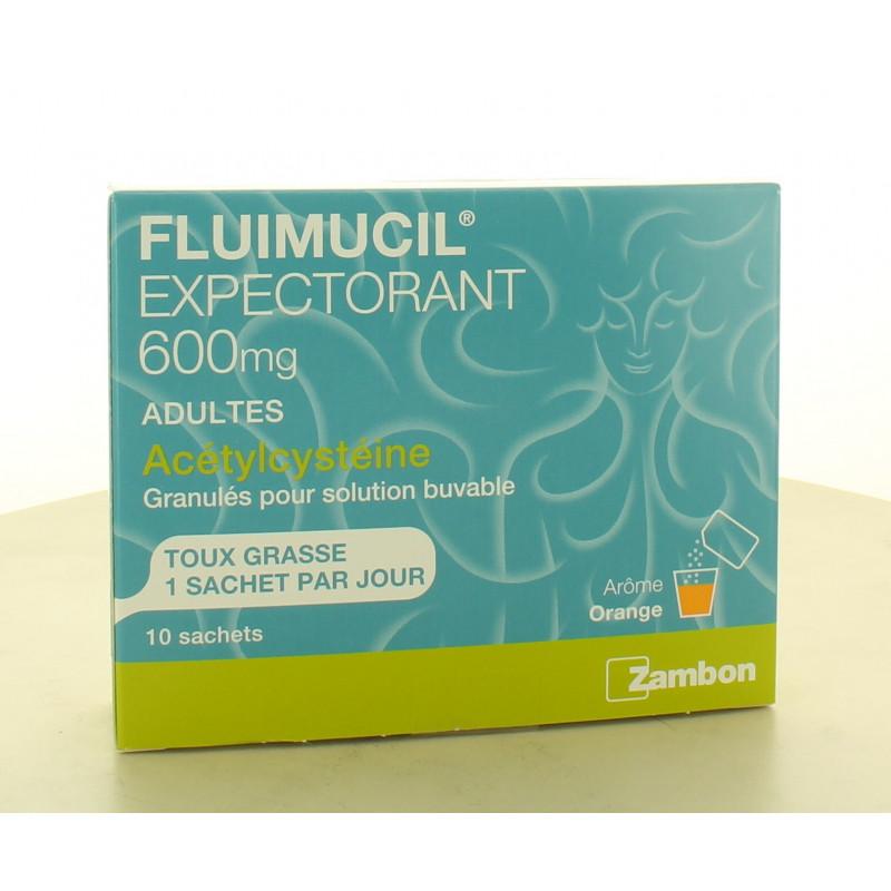 Fluimucil Expectorant 600mg 10 sachets