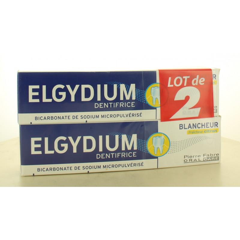 Elgydium Dentifrice Blancheur Fraîcheur Citron 2X75ml