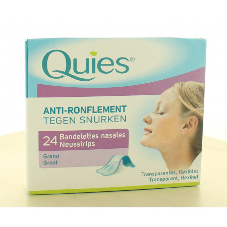 Quies Bandelettes Nasales Anti-ronflement X24
