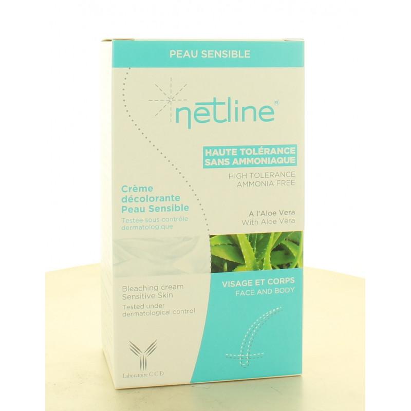 Netline Crème Décolorante Visage et Corps Peau Sensible 2X30ml
