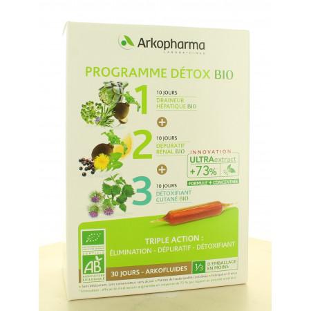 Arkopharma Programme Détox Bio 30 ampoules