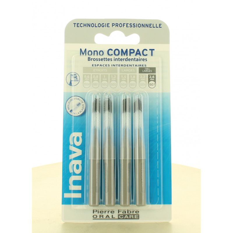 Inava Mono Compact Brossettes Interdentaires 2,6mm X4
