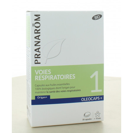 Pranarôm Oleocaps+ Voies Respiratoires Bio 30 capsules