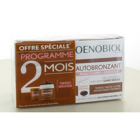 Oenobiol Autobronzant Peau Claire et Sensible 2X30 capsules