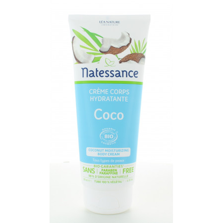 Natessance Crème Hydratante Corps Coco Bio 200ml