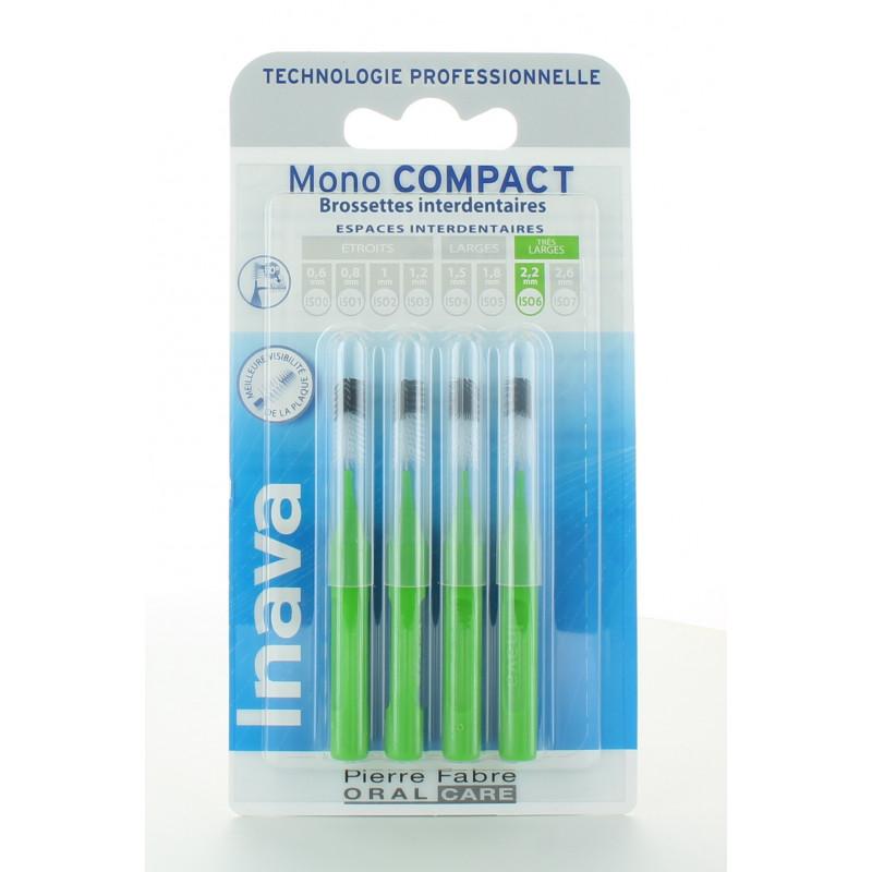 Inava Mono Compact Brossettes Interdentaires 2,2mm X4