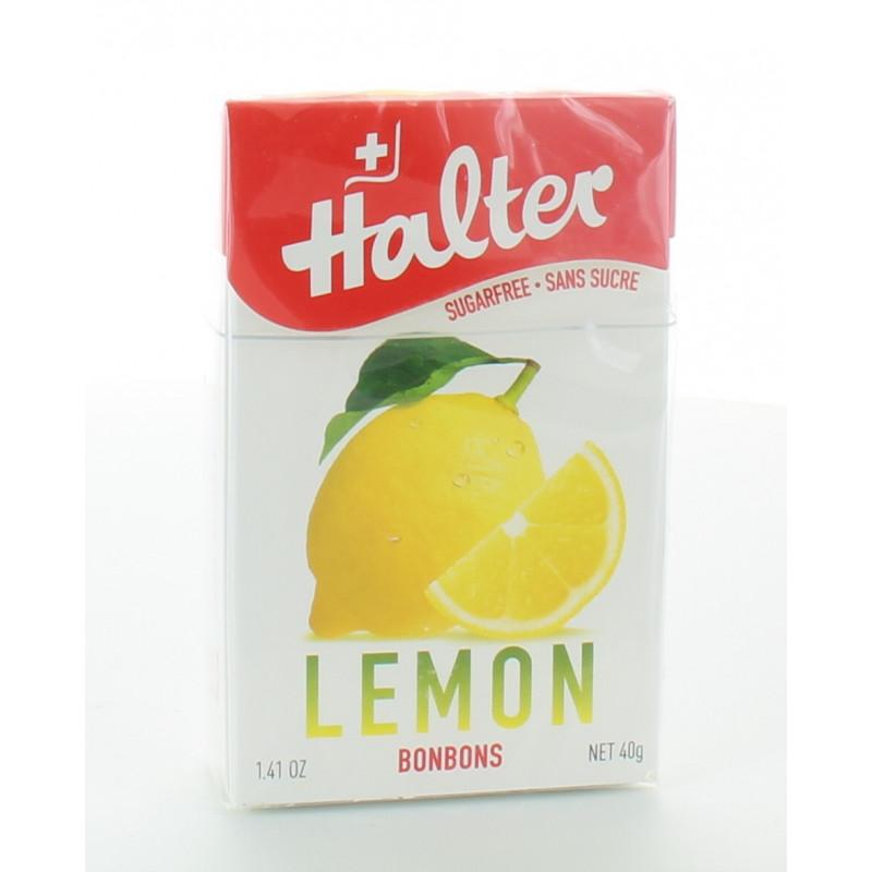 Halter Bonbon sans sucre Citron 40g