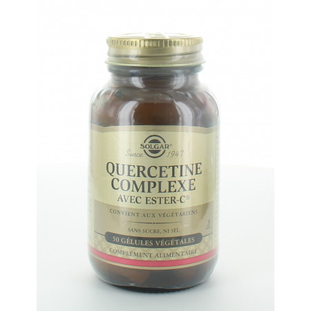 Solgar Quercetine Complexe avec Ester-C 50 gélules végétales